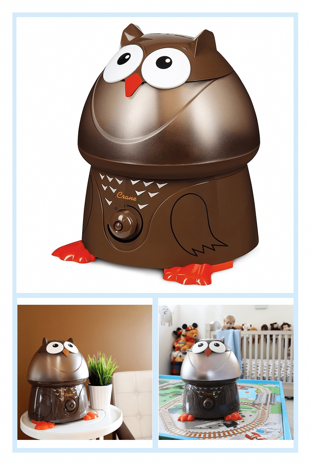 Crane Adorable Owl Ultrasonic Humidifier Brown in 2020