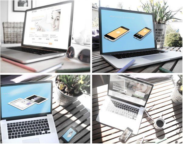 4 Free PSD Mockups, #Display, #Free, #Graphic #Design, #Laptop, #MockUp, #Presentation, #PSD, #Resource, #Showcase, #Template
