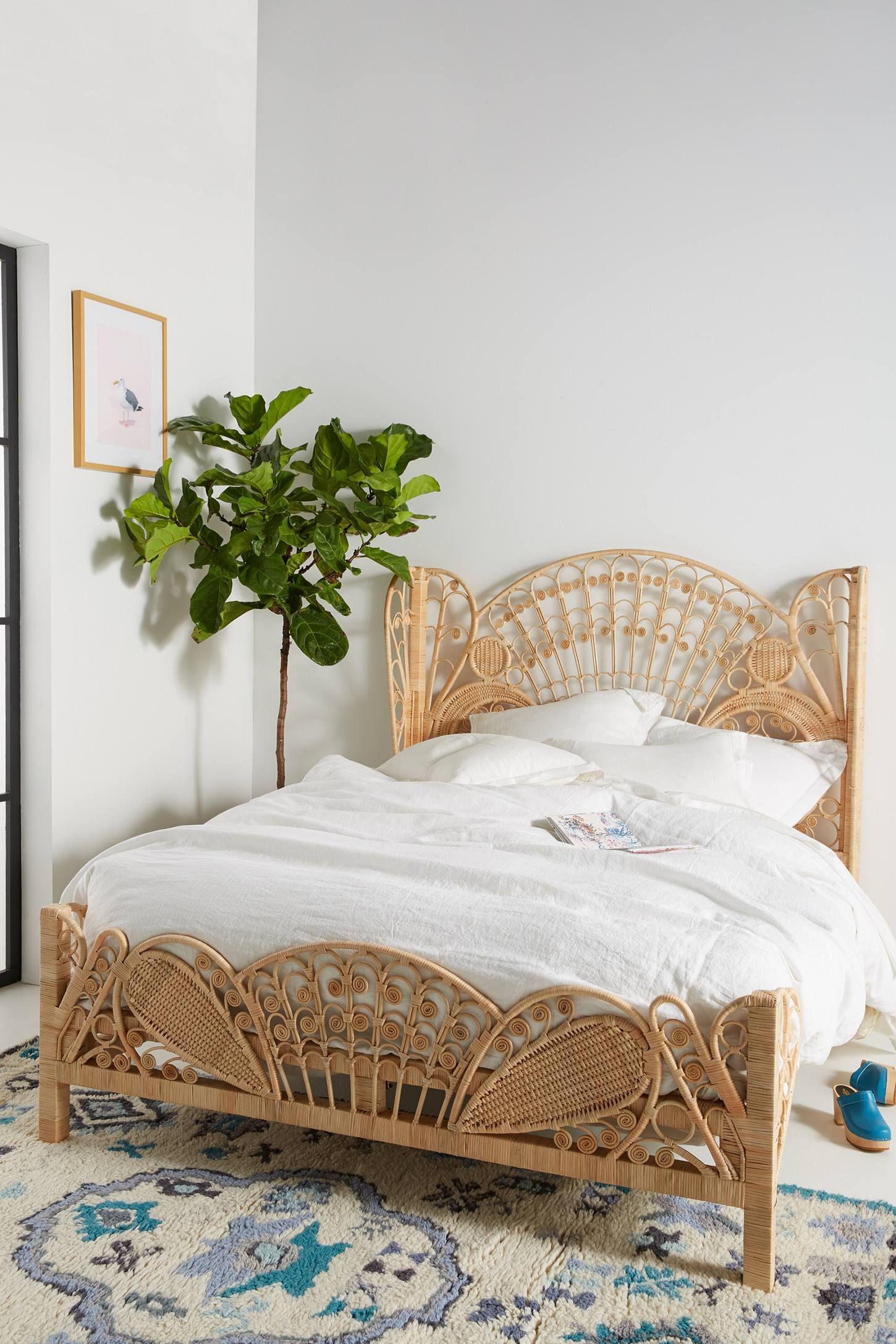 Kinsella Rattan Bed   Schlafzimmer