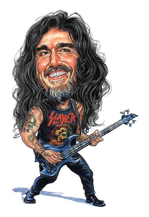 Resultado de imagen para caricatura de  Tom Araya