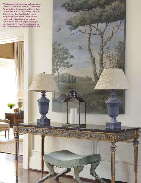 A Beautiful Console In The Charlotte NC Home April 2012 Edition Of Veranda Magazine