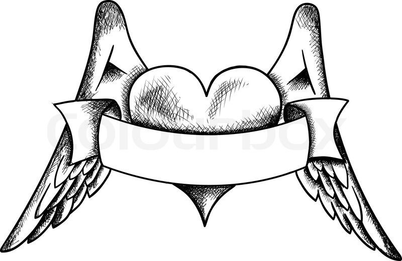 Wings Coloring Pages Google Search Heart Drawing Heart With Wings Tattoo Wing Tattoo Designs