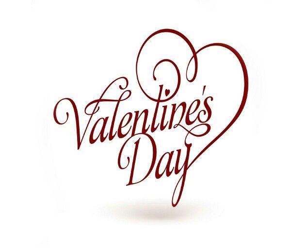 Valentines Day Cursive Curls Wallpaper Happy Valentines Day