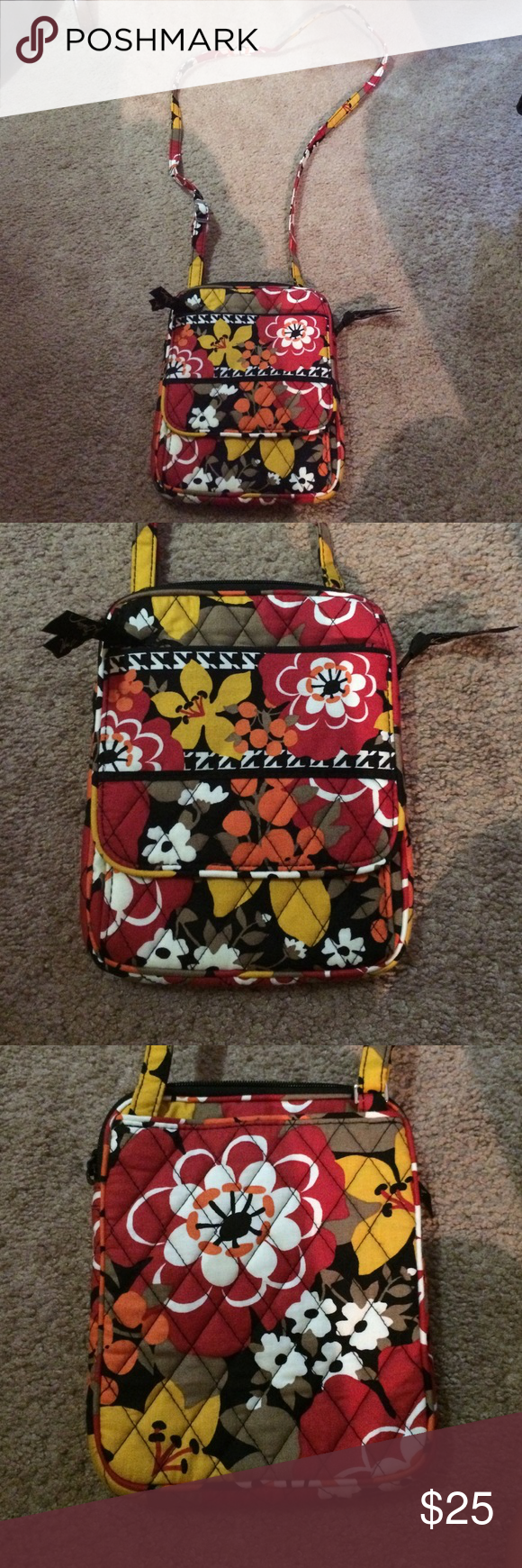 Vera Bradley mini hipster Vera Bradley cross body purse in like new condition, sad to get rid of it I just have too many purses! Vera Bradley Bags Crossbody Bags