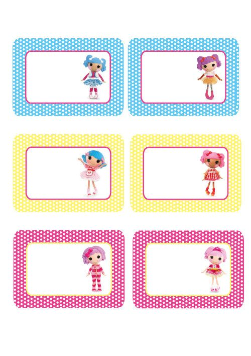 Lalaloopsy Blank Labels by PolkaDotDazeParty on Etsy, $400 tags