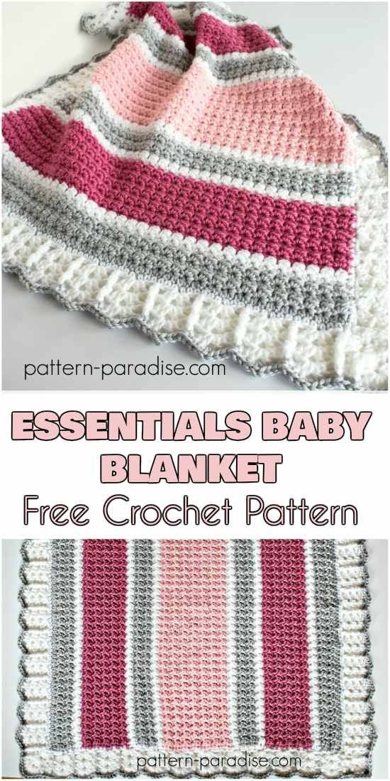 Essentials Baby Blanket - Free Crochet Pattern | Crochet/Yarn/Thread ...