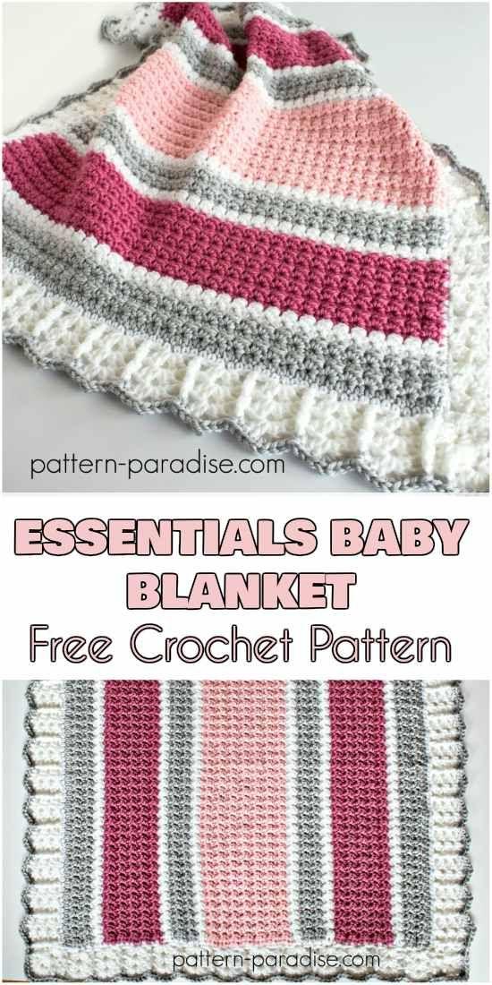 Essentials Baby Blanket - Free Crochet Pattern | Yarns | Pinterest ...