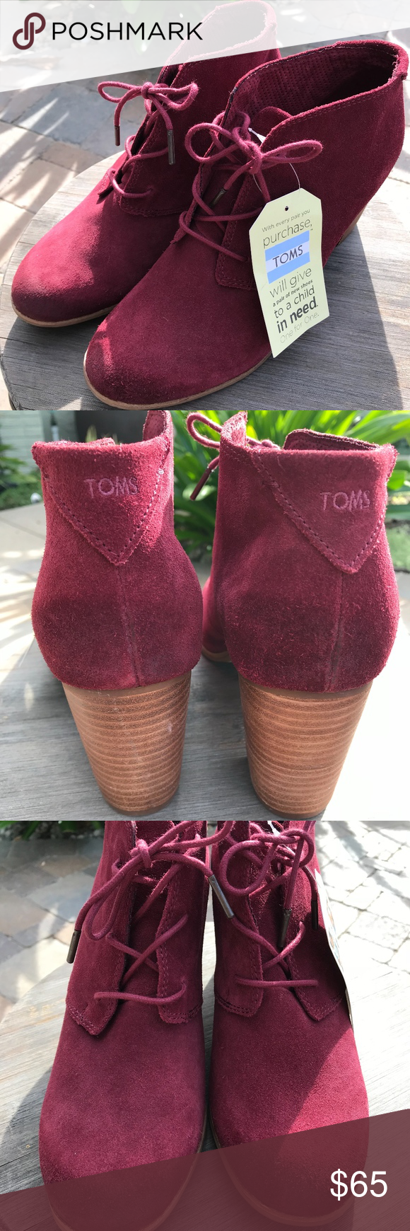 a27c4febf55 Toms Oxblood Burnished Suede Lunata Lace-up Women New With Tag  Toms  Oxblood Burnished Suede Lunata Lace-up Women s Booties Shoes Women s size  12 Leather ...