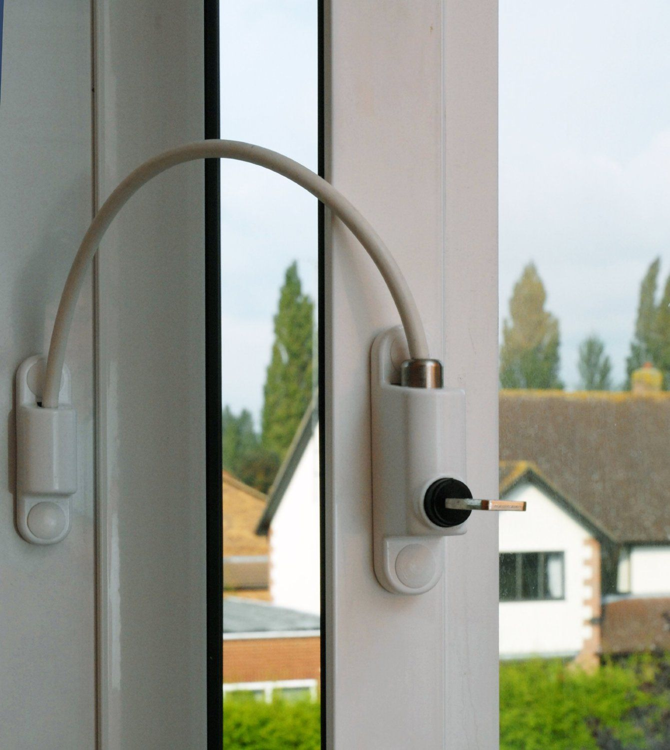 Upvc cable window restrictor child safety lock used on for Fenster care