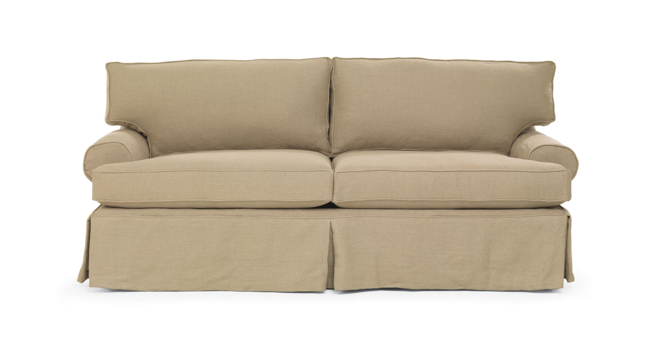 mitchell gold   bob williams nicki sofa  slipcovered in sophie linen  available at lofthome com