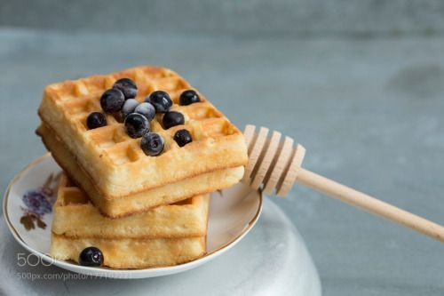 Waffles with blueberries by iokoaka2  IFTTT 500px