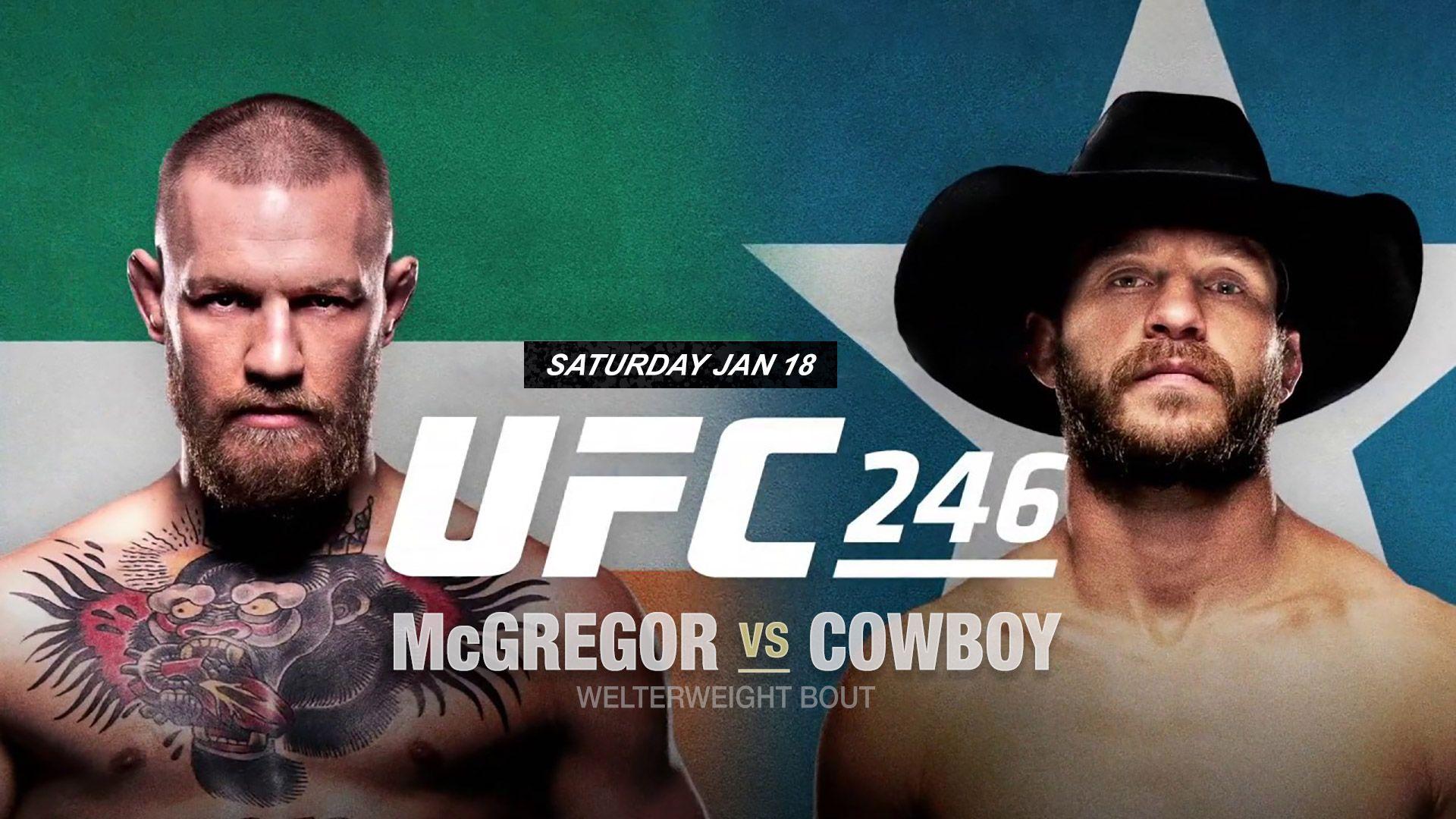 UFC 246 Conor McGregor vs Donald Cerrone Live Stream in