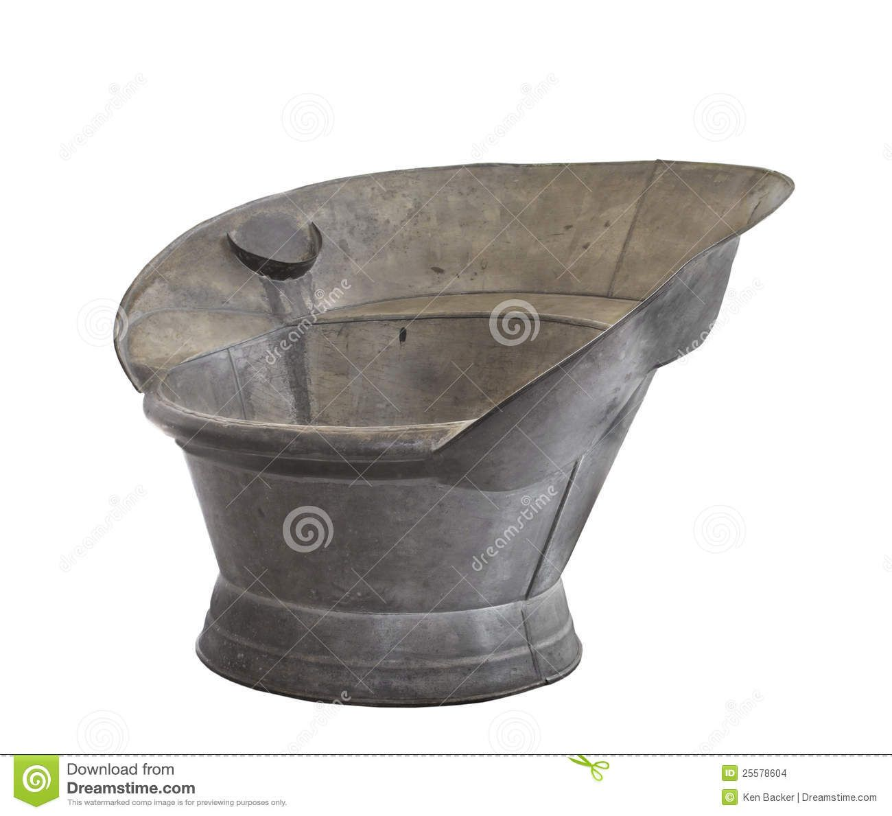 Galvanized Cowboy Bathing Tub | Old Sit In Bathing Tub Made Of Galvanized  Tin, With A Soap Dish .