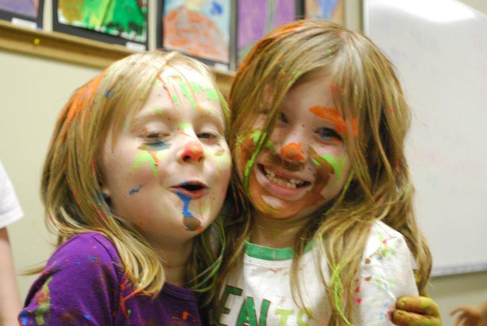Happy painters at Wonder Colors Art Studio!