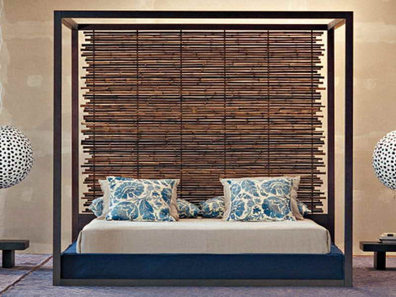 Bamboo headboard with cool design bamboo headboard decoration for bedroom