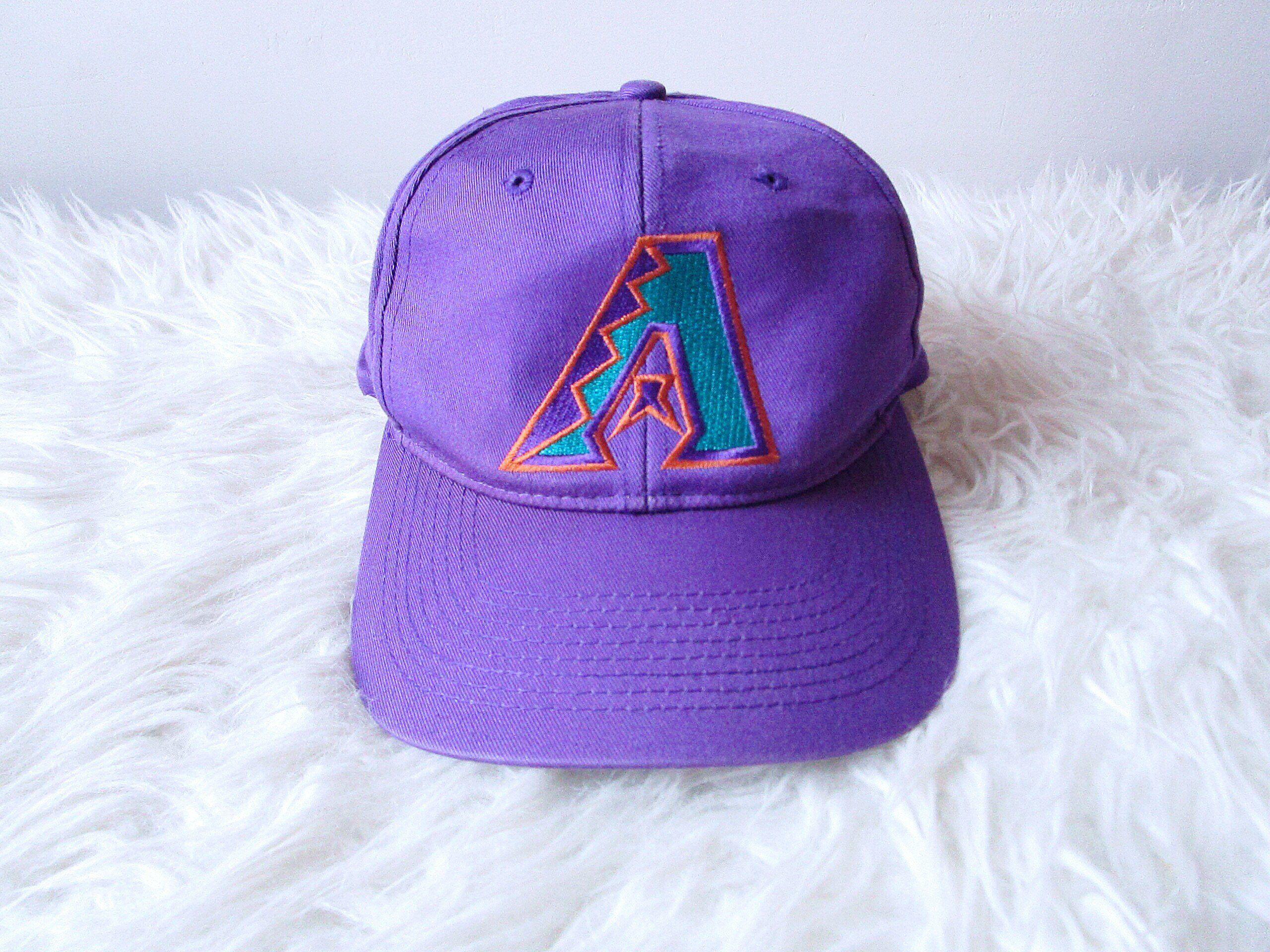 57b8e0a6f Vintage 90's ARIZONA DIAMONDBACKS Baseball Embroidered Adjustable ...