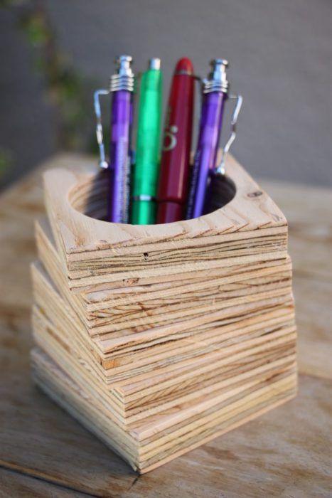 Comment Faire Un Pot A Crayon En Bois Idee De Pot A Crayon Pot A