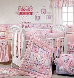 Hello Kitty Crib Set With Images Hello Kitty Bed Hello Kitty
