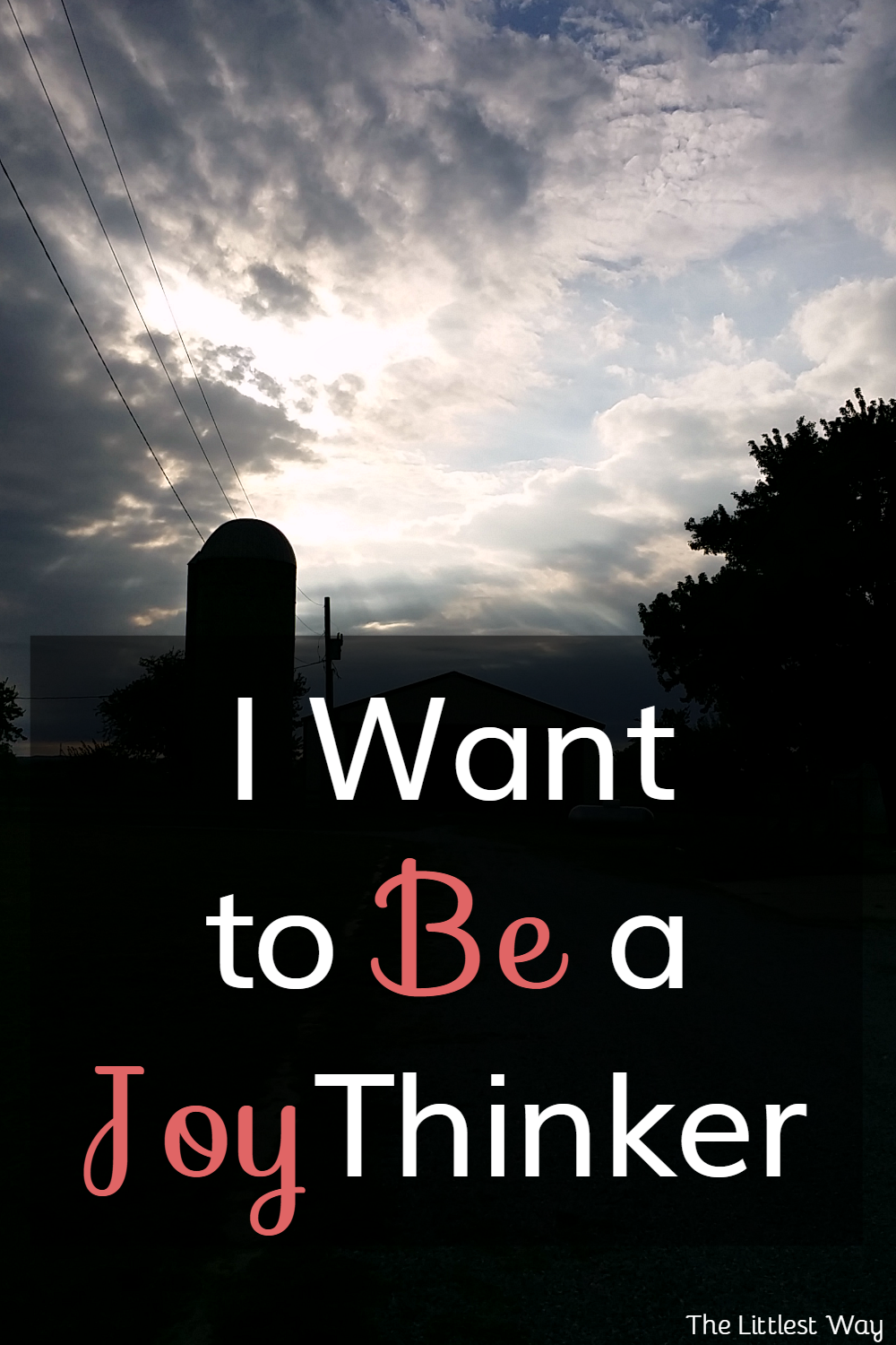 The Littlest Way: I Want to Be a Joy Thinker