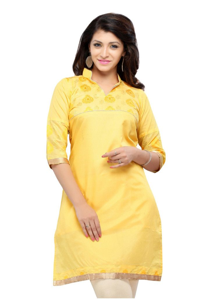99ea679e39f1 Buy Yellow Color Cotton Printed Kurti Online – Fashionic  Indian Ethnic Wear  Lace Dresses