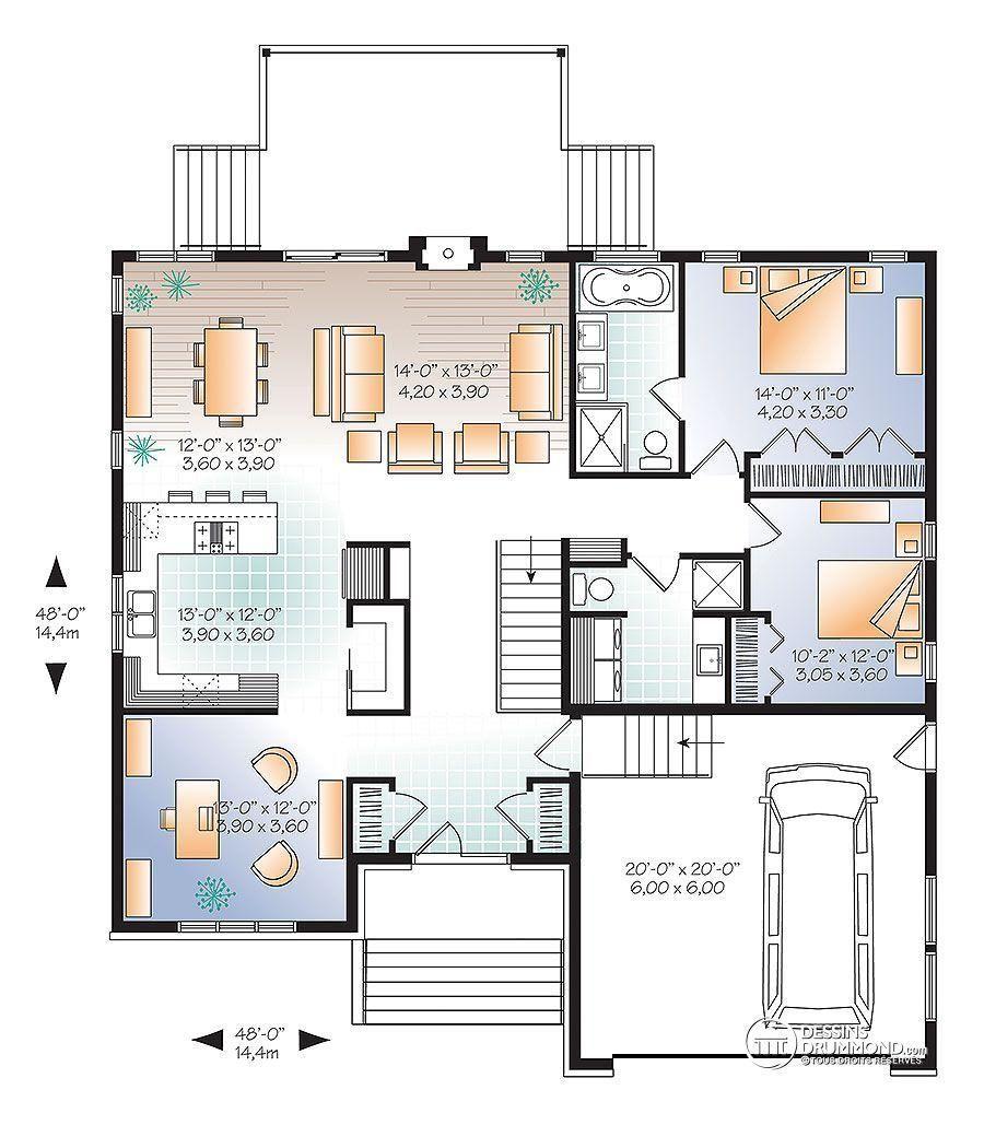 38 Plan Maison Urbaine Home Design Floor Plans House Plans Modern House Floor Plans