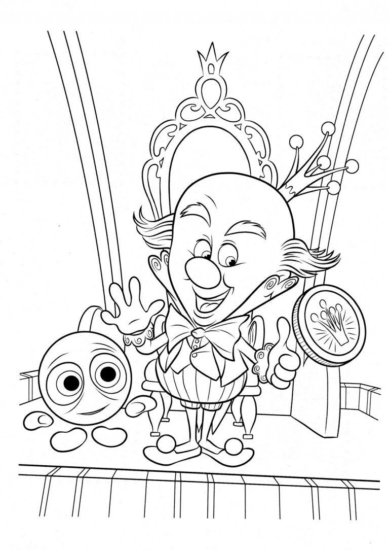 Wreck It Ralph Coloring Page King Candy Is The Ruler Of Sugar Rush Coloring Page In 2020 Cartoon Coloring Pages Disney Coloring Pages Coloring Pages