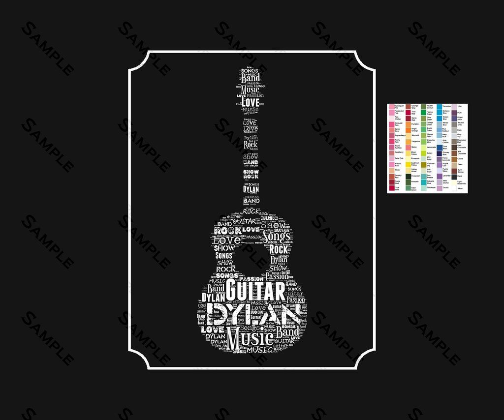 Guitar Gifts Guitar Player Birthday Acoustic Guitar 8 X 10 Print Guitar Gifts Guitar Player Gifts Acoustic Guitar Tattoo