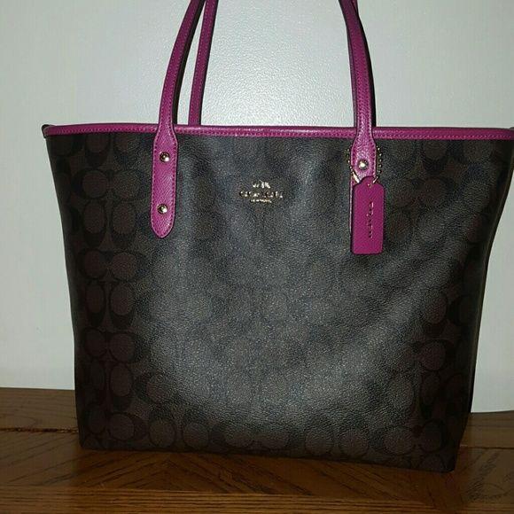 fc5a425e2f ... bag handbag c1934 cd80b  uk coach tote brown and pink coach tote like  new. no signs of wear.