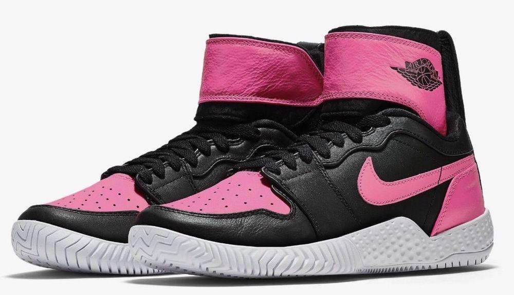 e69f09ad45536 ... get nike flare lg qs aj1 womens tennis shoes 7 black pink 878458 006  serena jordan