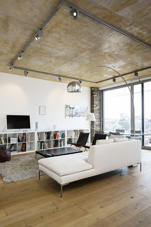 Track Lights Around The Perimeter Of Thr Room Loft Design Interior Architecture Design Industrial Loft Design