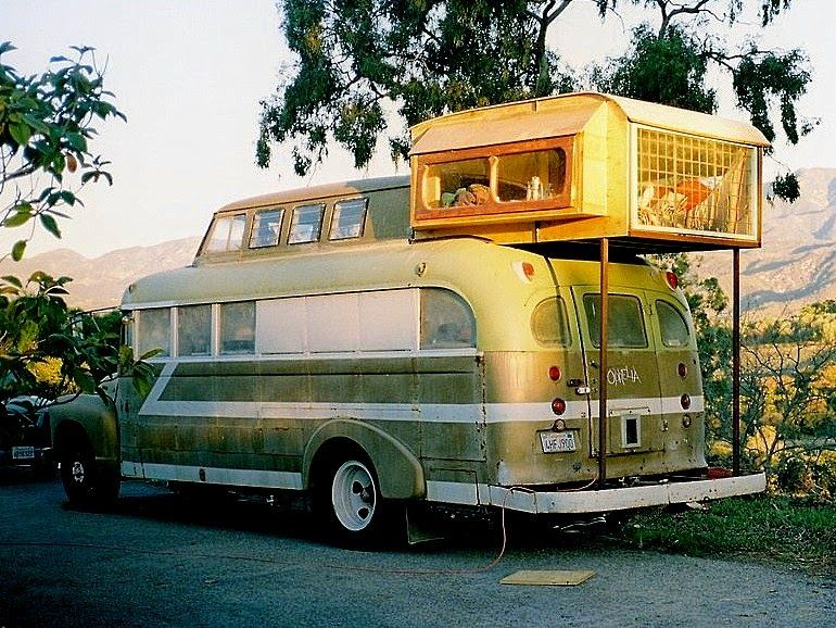 The Cosmic Collider Ryan Lovelace S Quirky 1948 Chevy Housebus Van Life Bus Vintage Trailers