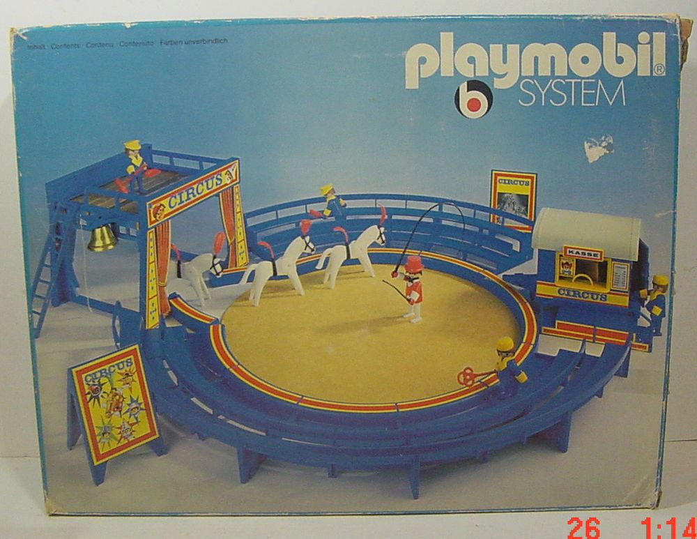 Playmobil Wohnzimmer ~ Vintage playmobil rare blue circus new unplayed