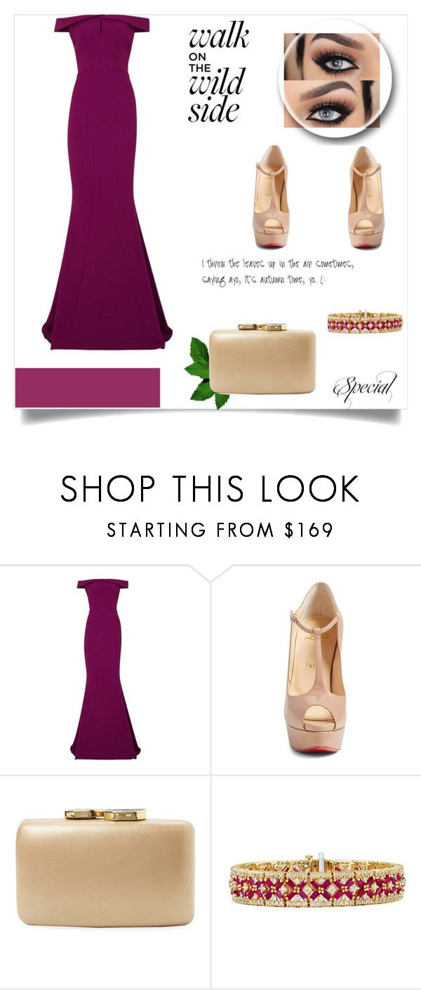 """look fashion !!"" by michellsalazar ❤ liked on Polyvore featuring Safiyaa, Christian Louboutin, Kayu and Effy Jewelry"