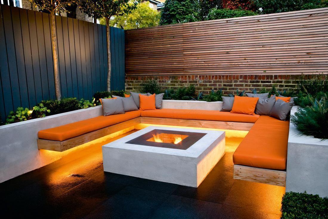 firepit Home Outdoor Areas in 2019 Garden seating, Garden, Modern garden design