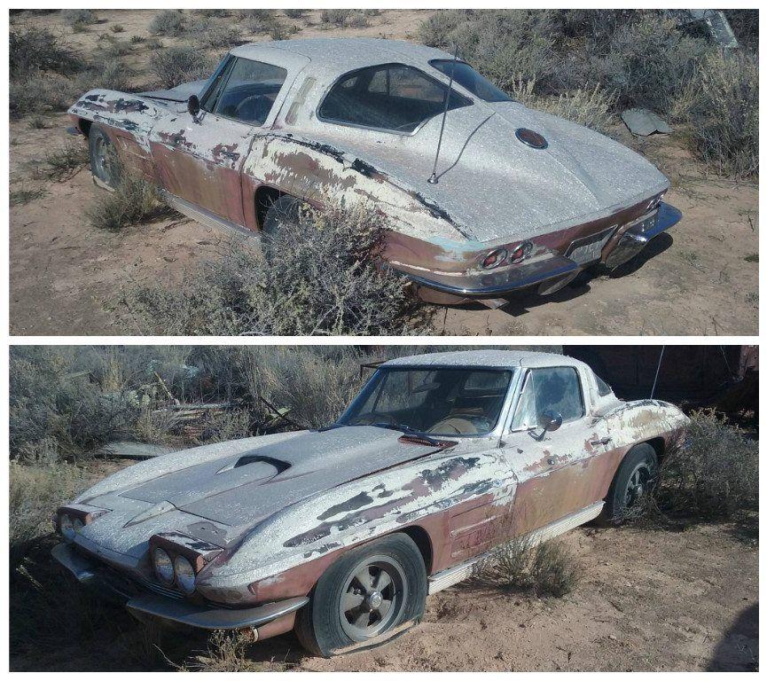 1963 split window corvette vettes pinterest abandonn voitures et casse auto. Black Bedroom Furniture Sets. Home Design Ideas