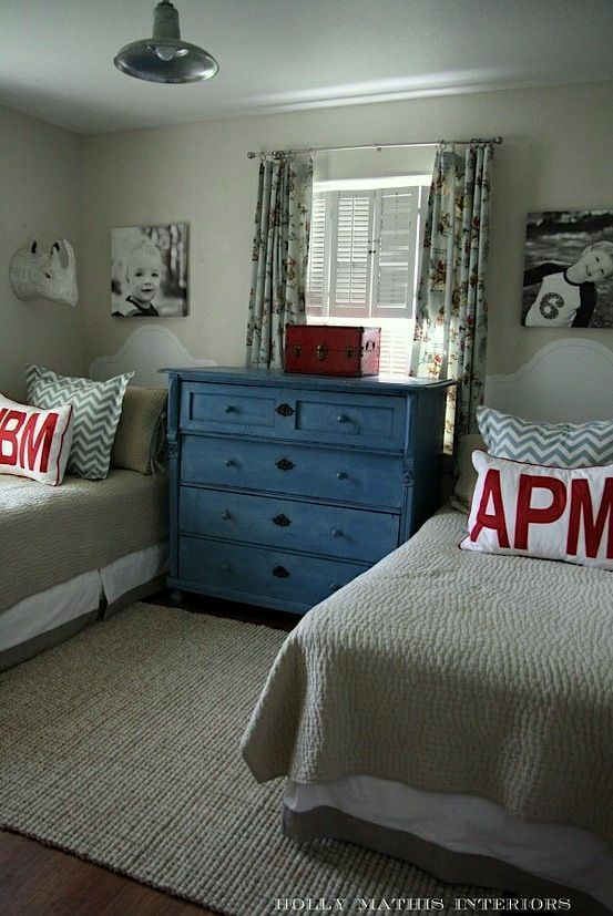 Blue And Gray And Red For A Boy Room Love These Colors Shared