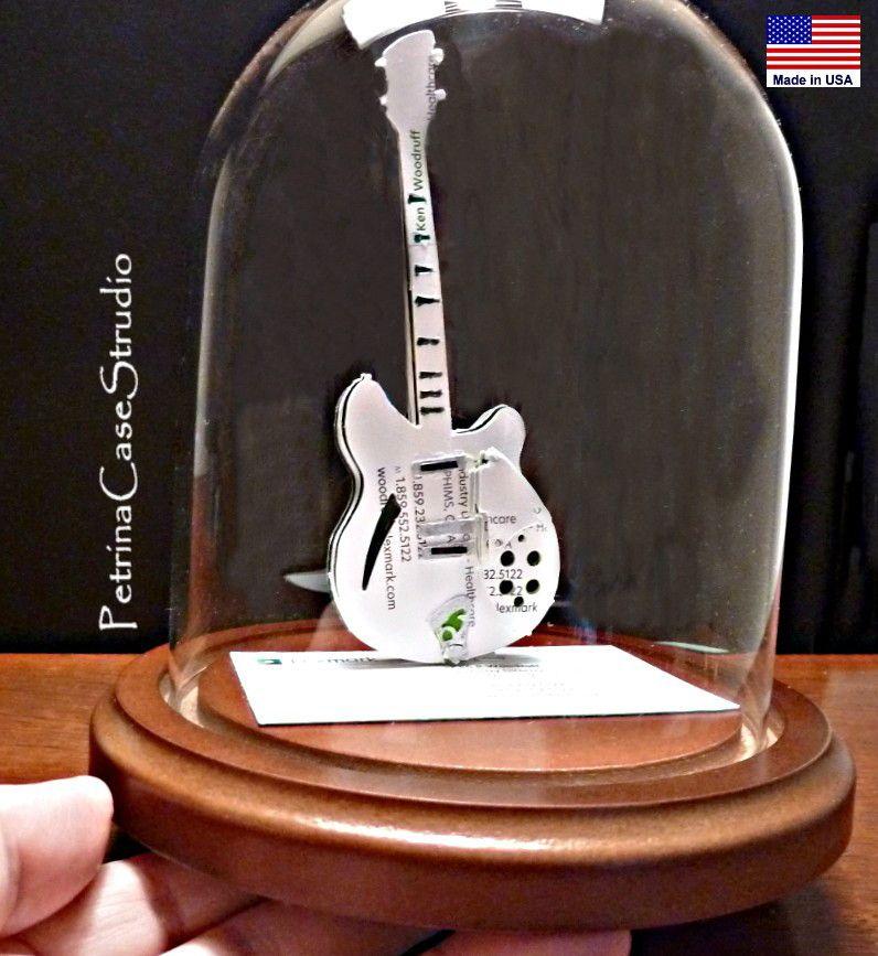 Bass Guitar Business Card Sculpture. Made from 20 cards you send ...
