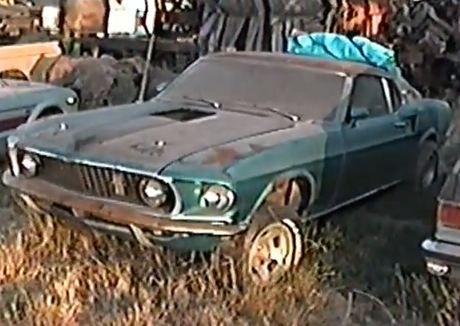 1969 Mach 1 Super Cobra Jet Sitting In A Field Abandoned Cars
