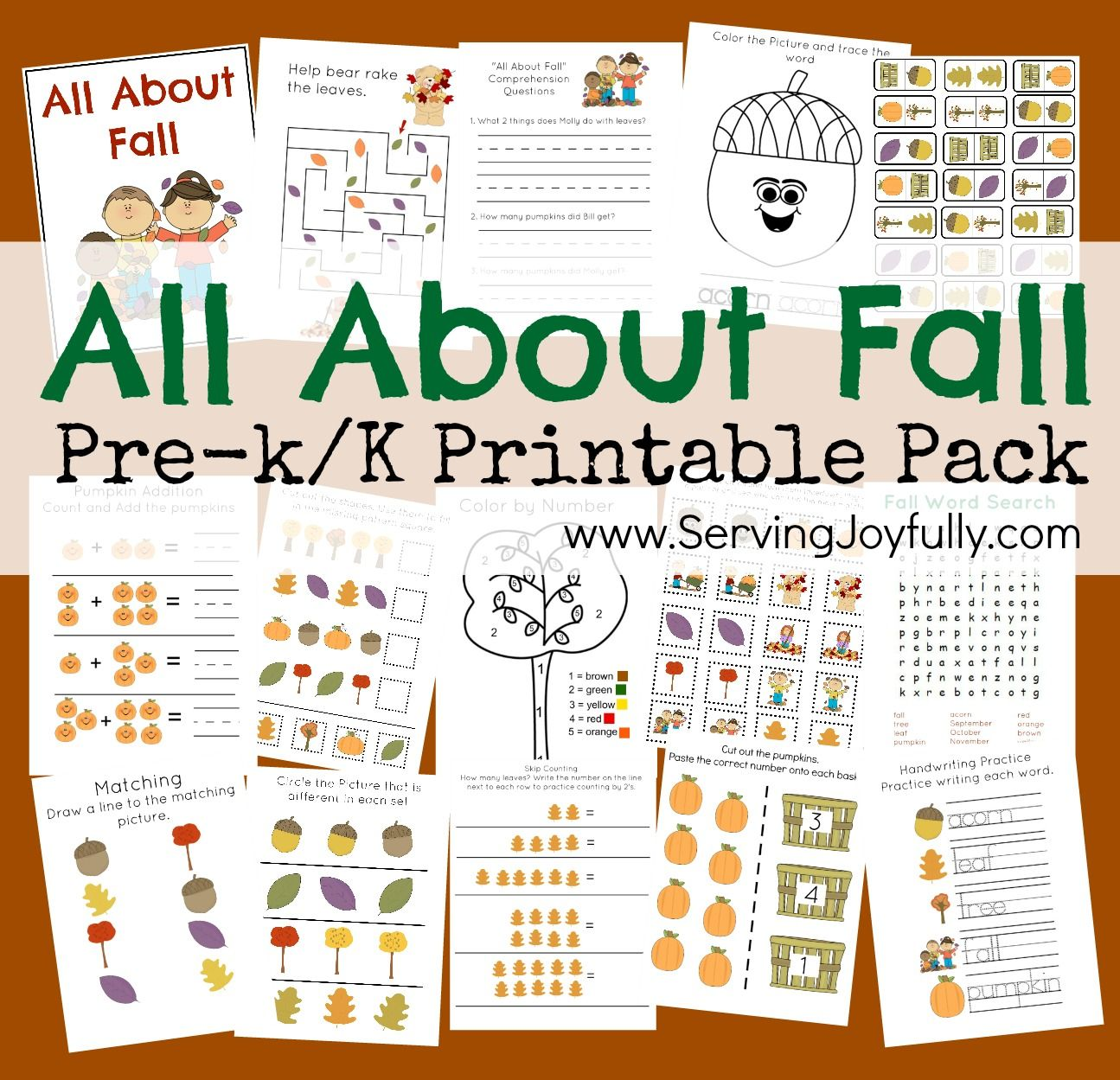 All About Fall Fun Pack