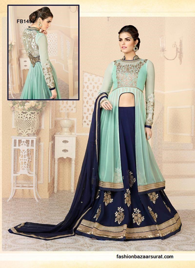 Classy Navy Blue Anarkali Suit Buy Indian Salwar Suits Online for