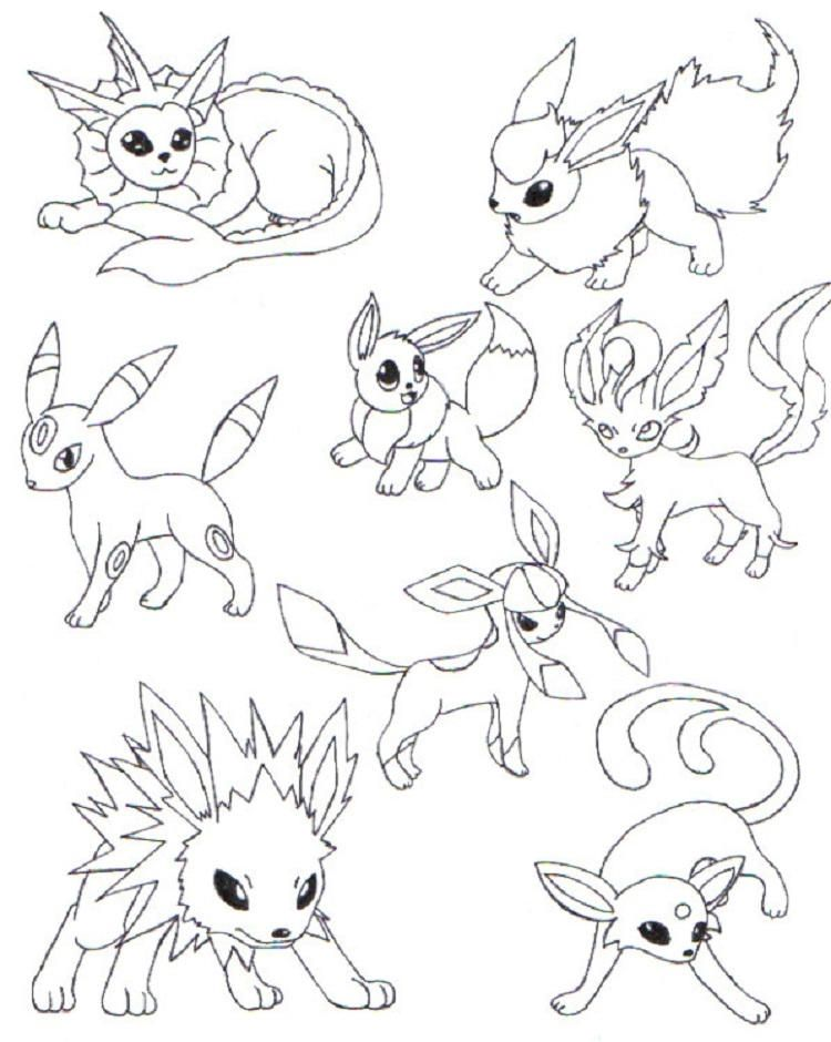 Eevee By _whitelate_ Pokemon eeveelutions, Pokemon