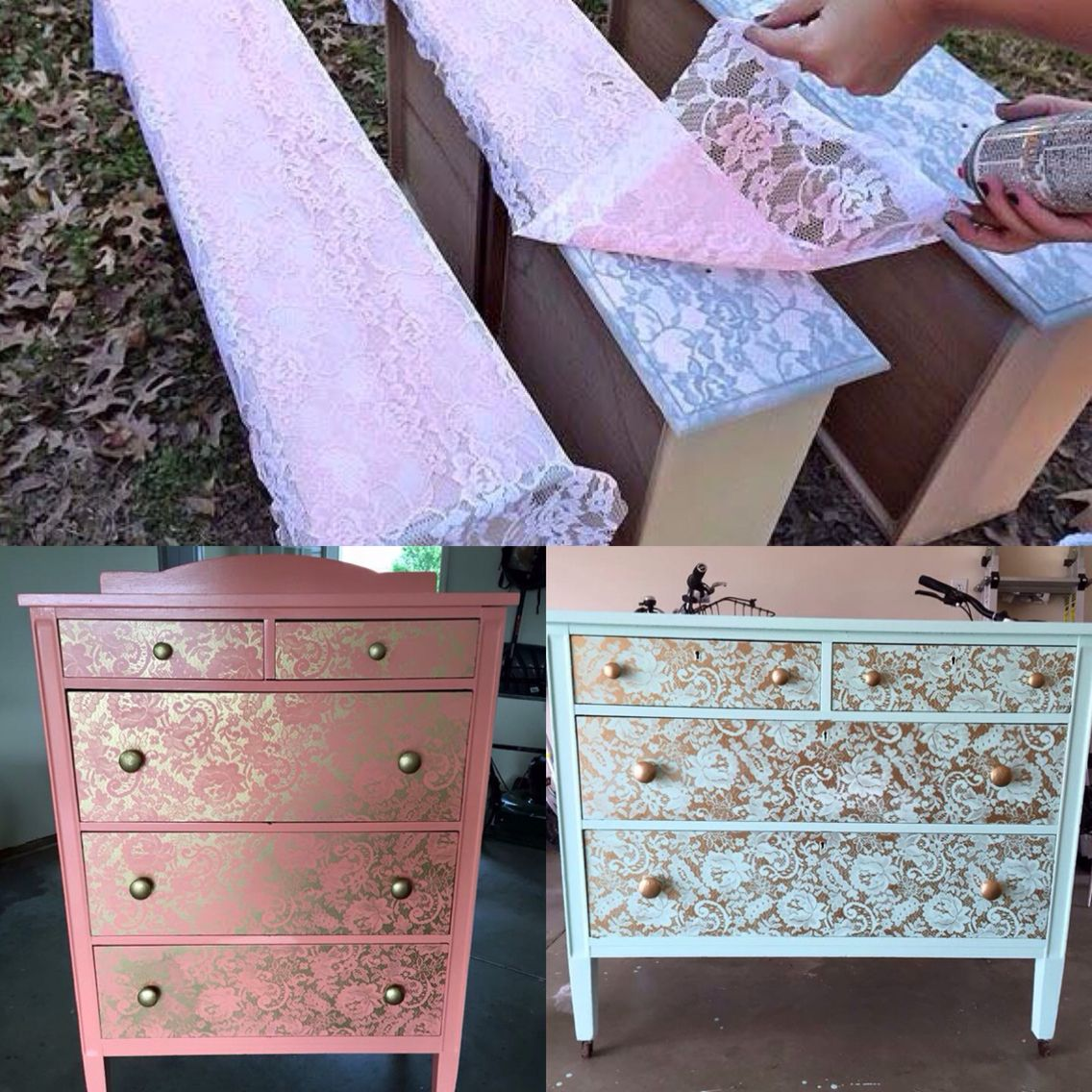 Lace Painted Furniture For The Home Pinterest Lace