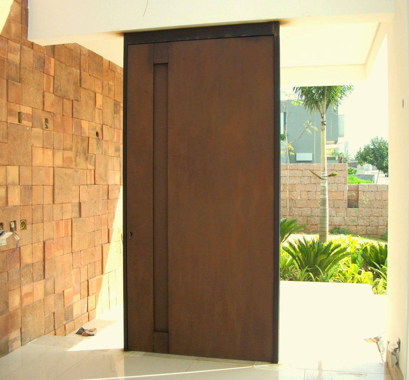 Excepcional porta aço corten pivotante | Portas | Pinterest | Aço corten, Aço  RS12