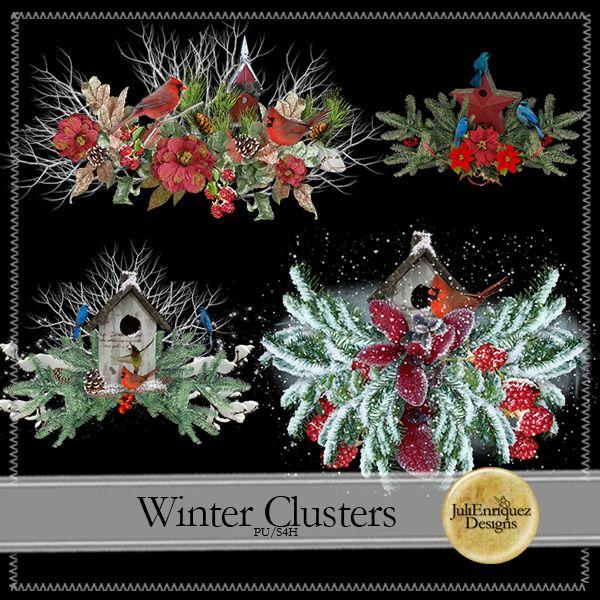 Winter Clusters (PU/S4H) by JuliEnriquez Designs Winter Clusters by JuliEnriquez Designs [JED-Winter-Clusters] -  : Digidesignresort