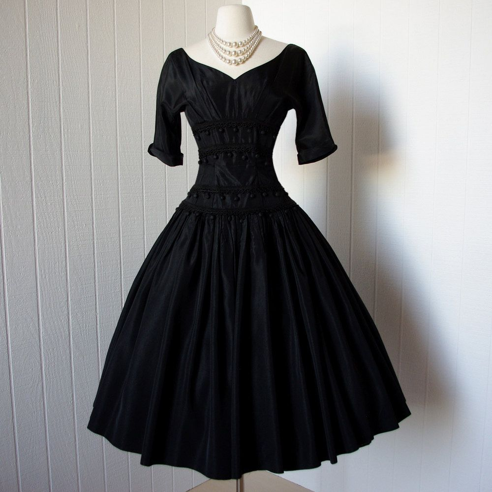 Vintage s dress enomenal dior inspired suzy perette new