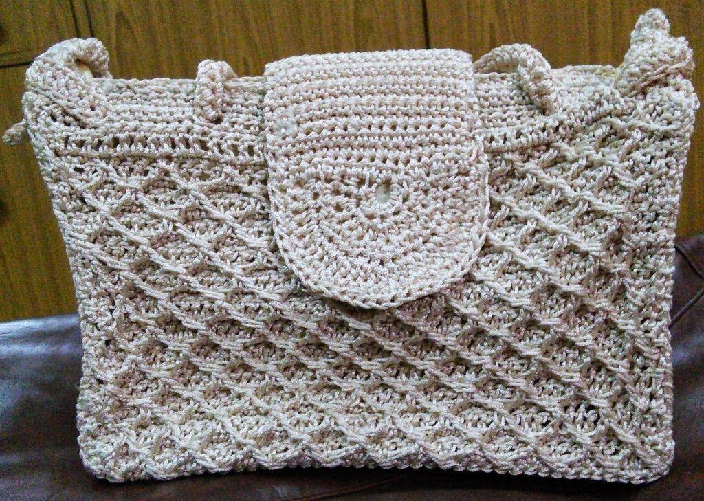 Dulce nada Crochet: DIAMOND BOLSA