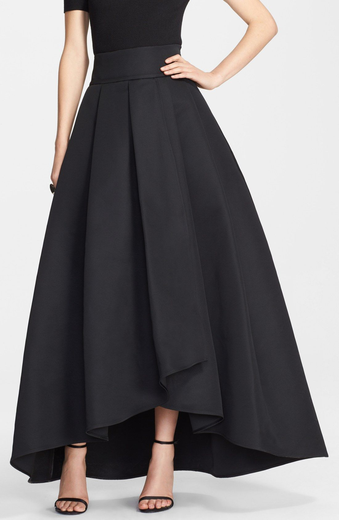 Chicwish Bowknot Pleated Full Maxi Skirt in Black ($39) ❤ liked ...