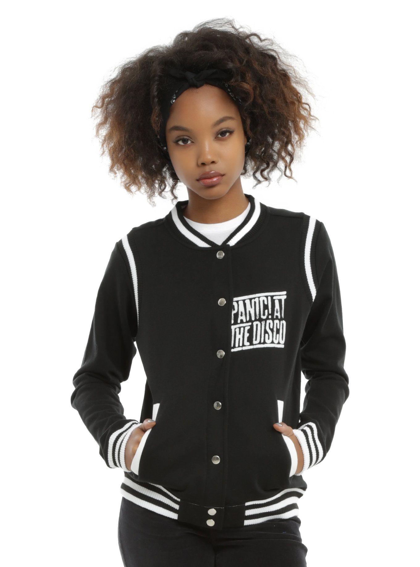 b1191108 Panic At The Disco Girls Varsity Jacket   Hot Topic