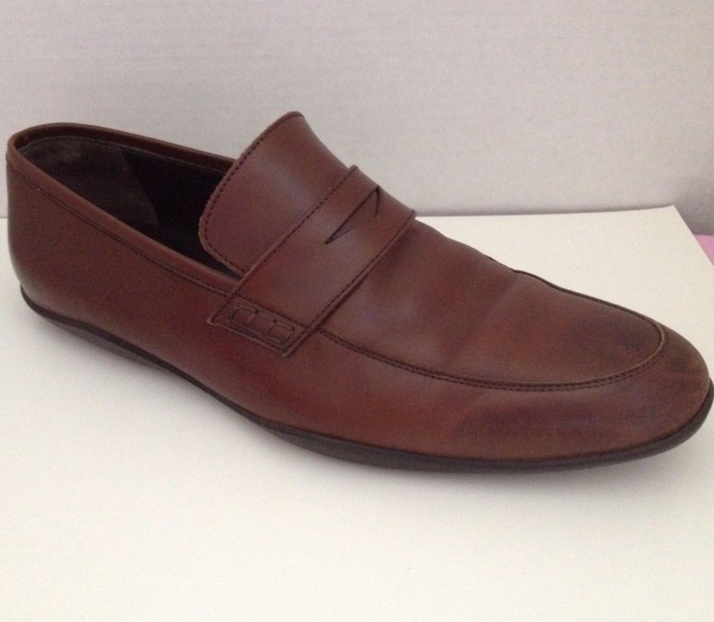 Mens Casual Loafer Shoes (9 US) (Brown)