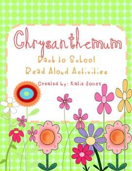 Chrysanthemum back to school activities